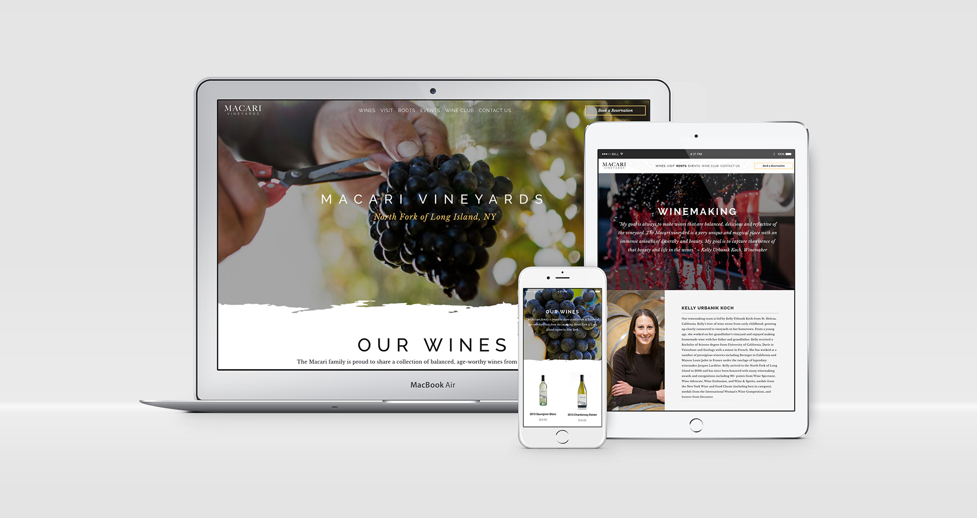 Macari Vineyards - Website Devices