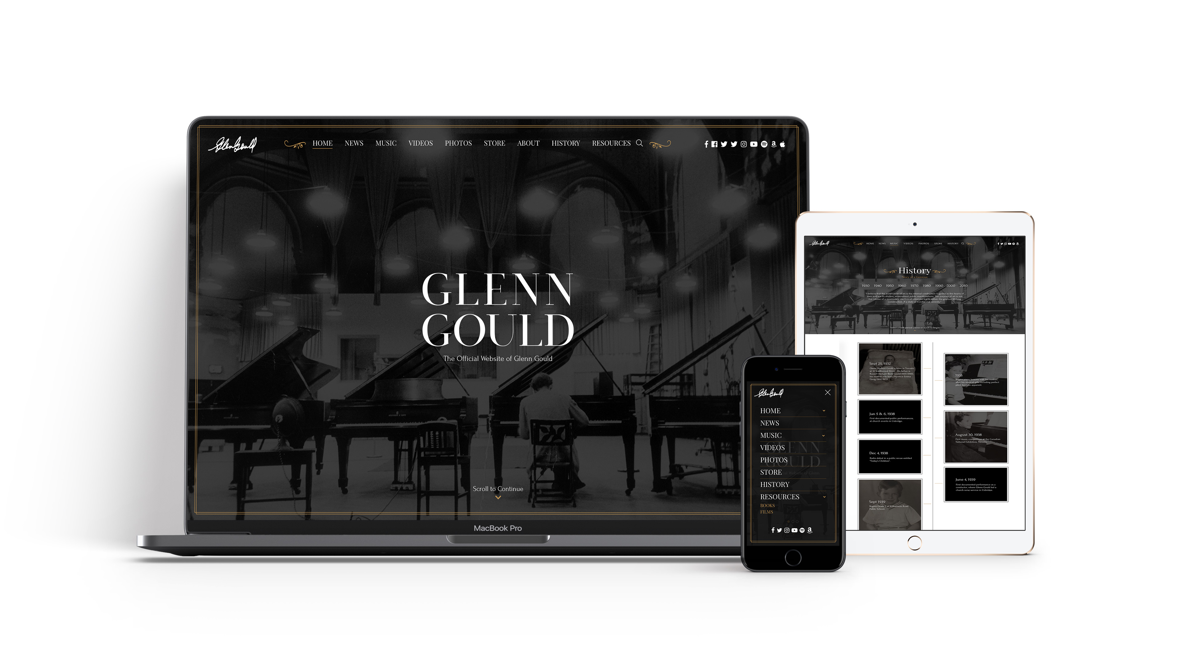 Glenn Gould Web Design and Web Development
